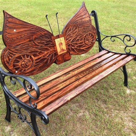 Wooden Butterfly Bench