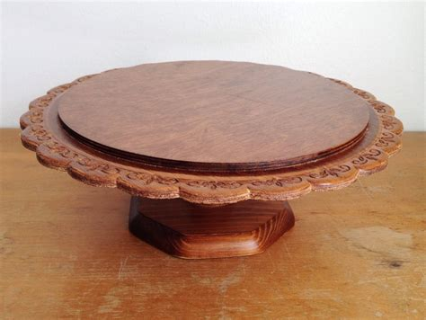 Wooden Cake Plate