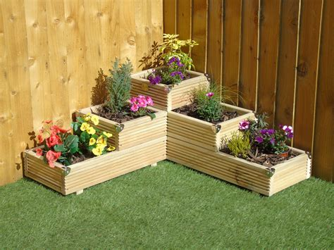 Wooden Deck Planters