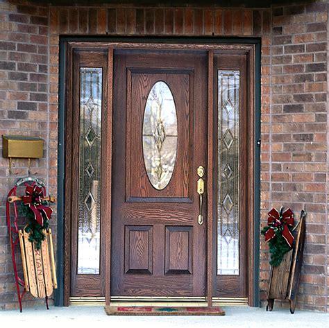 Wooden Front Door With Glass Panels
