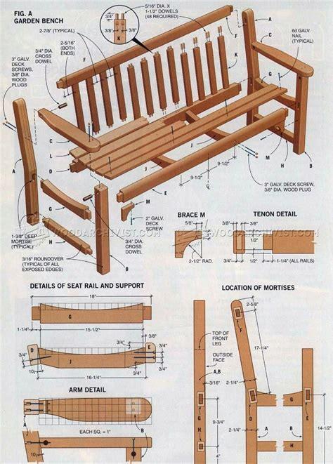 Wooden Garden Bench Plans