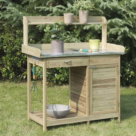 Wooden Potting Bench Bq