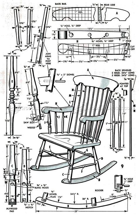 Wooden Rocking Chair Plans PDF