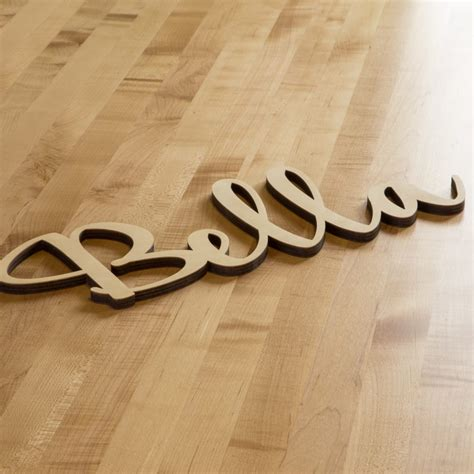 Wooden Script Letters