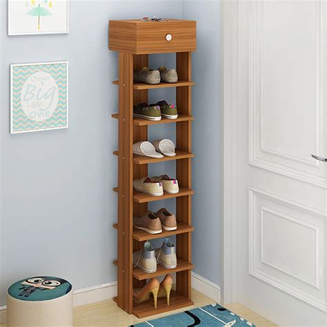 Wooden Shoe Organizer