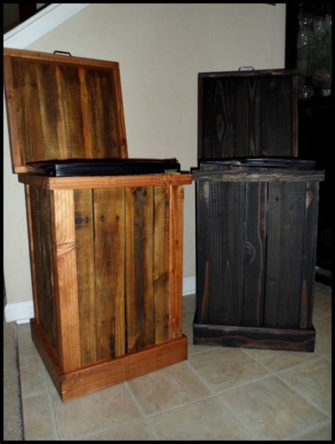 Wooden Trash Cans For The Kitchen