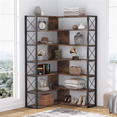 Woodfin 3 Tier Corner Etagere Bookcase