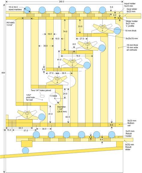 Woodwork Marble Slider Plans