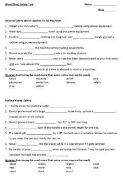 Woodworking Class Lesson Plans