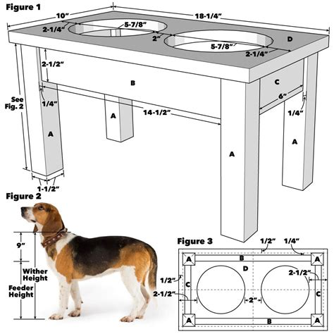 Woodworking Plans For Outdoor Dog Dish Holder
