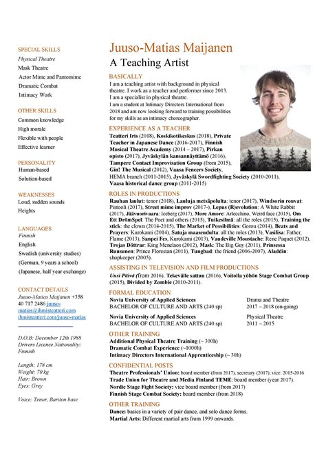 word acting resume template acting resume template in word format this theatre