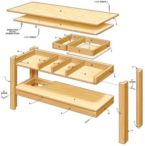 Workbench Drawer Plans