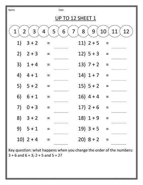 worksheet math grade 1 pdf