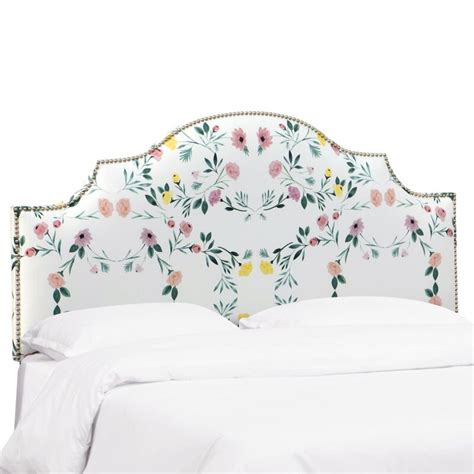 Worrell Nail Button Notched Upholstered Panel Headboard