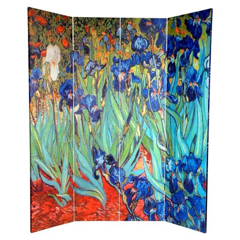 Wright 70.88 x 63 Works of Van Gogh 4 Panel Room Divider