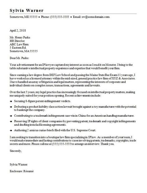 Cover Letter Lawyer Job Application Writing A Lawyer Cover Letter Esq Resume