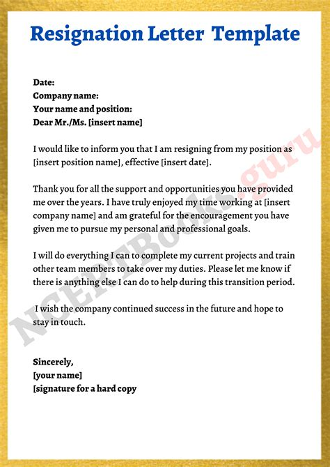 Writing Resignation Letter To Employer Writing A Resignation Letter San Jose State University