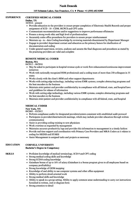 writing resume for medical school medical coding resume sample resume my career