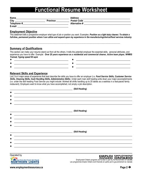 Worksheets Resume Worksheet Template resume writing worksheet delibertad cv templates to download free on word
