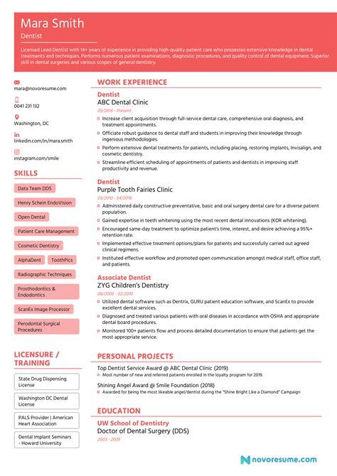 Www Resume Now Com Dentist Cv Resume Example Format Resume Now