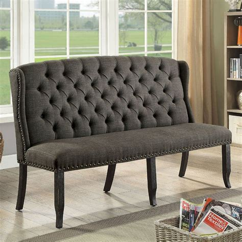 Yarmouth Transitional Wood and Upholstered Bench