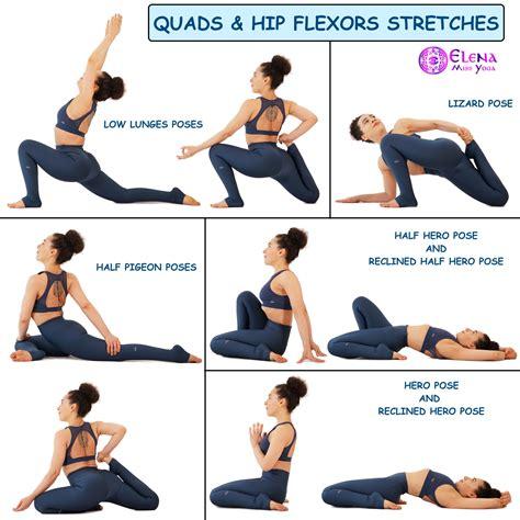 yoga stretches for hip flexors quads exercises workout