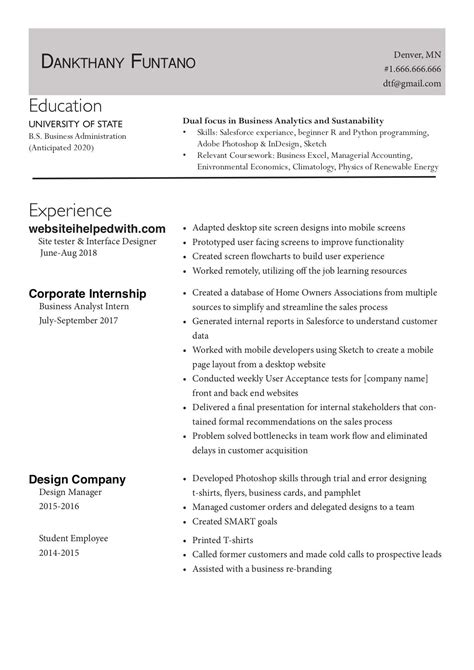 young professional resume template what your resume should look like in 2017 money