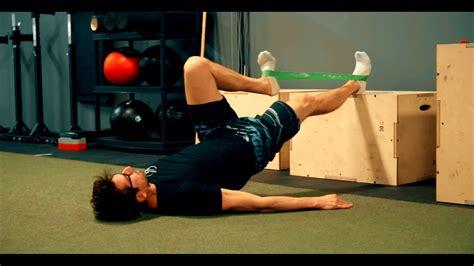 youtube hip flexor strengthening bands for knees