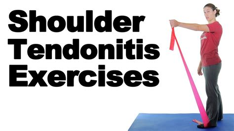 youtube shoulder tendonitis exercises