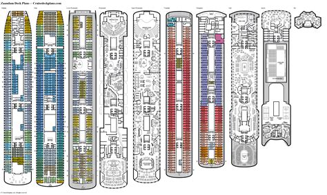 Zaandam Cruise Ship Deck Plans