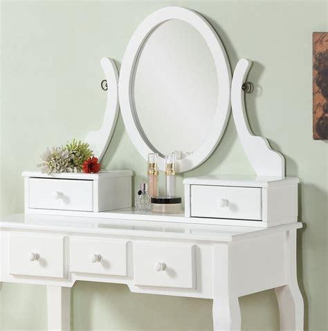Zeke Wood Makeup Vanity Set with Mirror