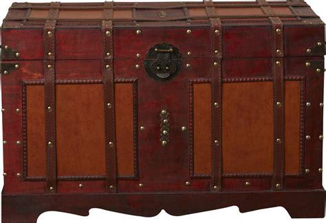 Zemrane Antique Style Steamer Trunk