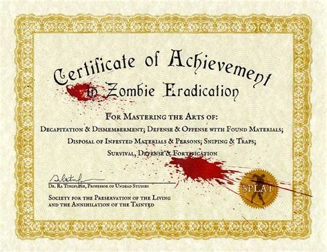 Zombie certificate template top 5 mistakes on manager resumes pdf zombie certificate template zombie certificate template free download for windows yadclub Gallery