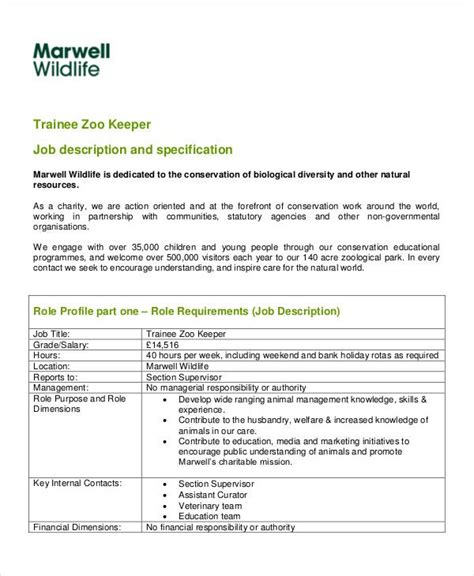 zookeeper resume skills writing a good resume singapore