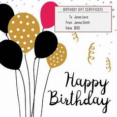 13 Free Printable Gift Certificate Templates Birthday