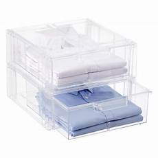 Clear Storage Drawers by Clear Stackable Shirt Accessory Drawer The Container Store