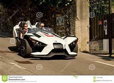 polaris slingshot at bergamo historic grand prix 2017 editorial stock image image of grandprix