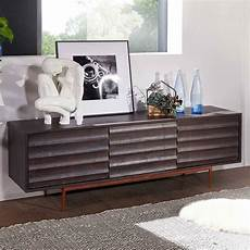 147x50x38 Design Lowboard In Grau Akazie Massivholz