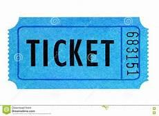 Blue Ticket Stock Image Image Of Stub Isolated