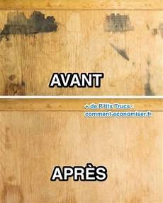 comment enlever une tache sur un meuble en bois avec du