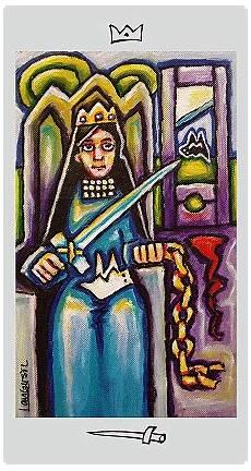 Königin Der Schwerter - k 246 nigin der schwerter langustl tarot maple tree verlag