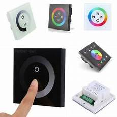 led touch panel dimmer controller wall switch for single