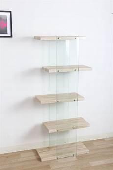 scaffali in vetro offerta scaffale 5 rip alto legno vetro quercia