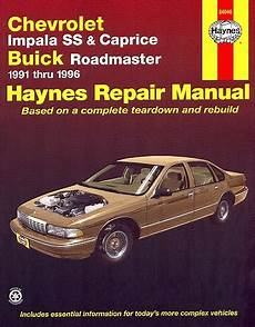 free auto repair manuals 1996 chevrolet caprice parking system chevy impala ss caprice buick roadmaster repair manual 1991 1996