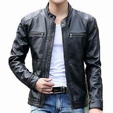 s leather jacket design stand collar coat casual