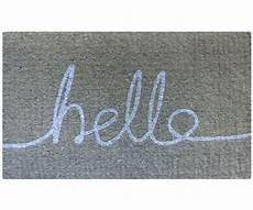 Grey Indoor Doormat by Hello Doormat Grey White 100 Coir Doormat