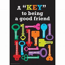 the key to being a key to being a good friend classroom poster eureka school