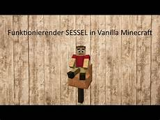 funktionierender sessel in vanilla minecraft