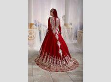 Red Embellished Top Detail ?slamic Long Evening Dresses