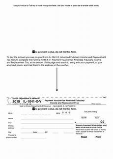 fillable form il 1041 v illinois payment voucher for